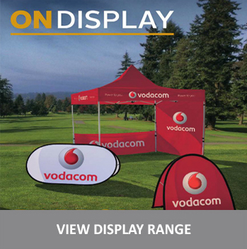 corporate branded display items such as flags banners and gazebos with your branding in cape town south africa
