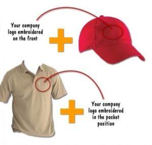 Golf shirt and cap